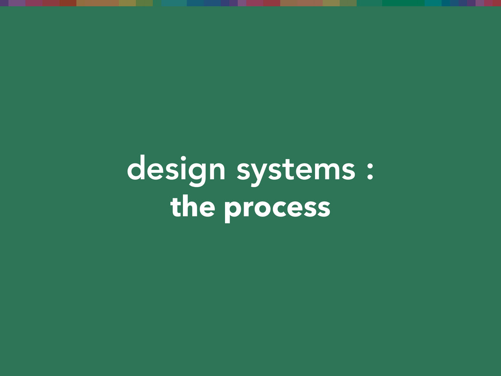 design systems : the process