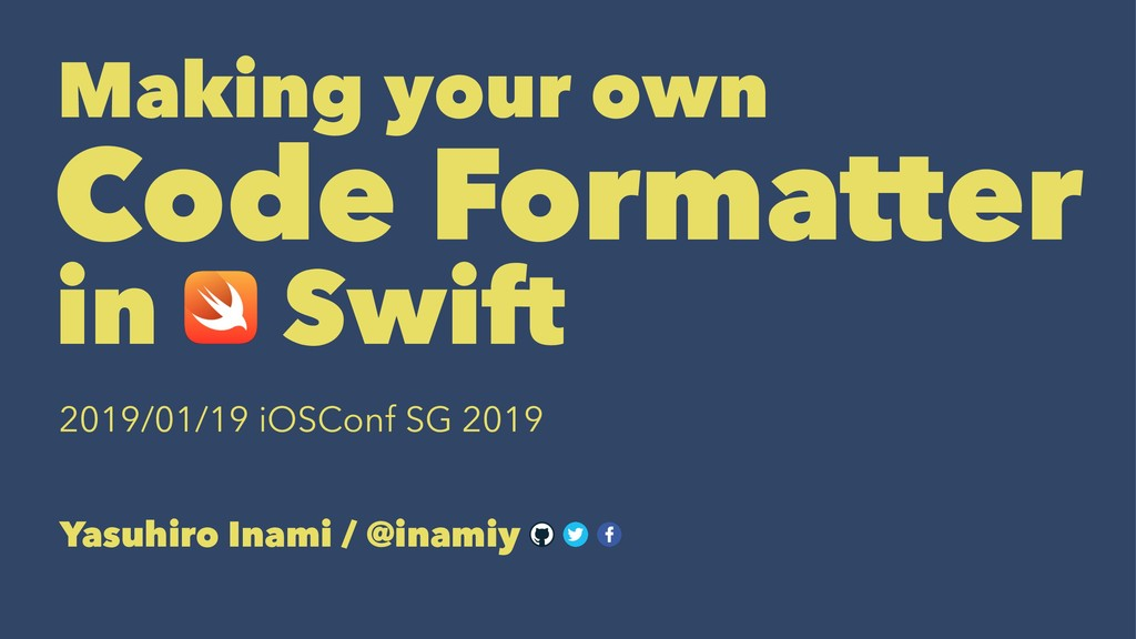 Making your ownɹɹɹɹ Code Formatter in Swiftɹɹɹɹ...