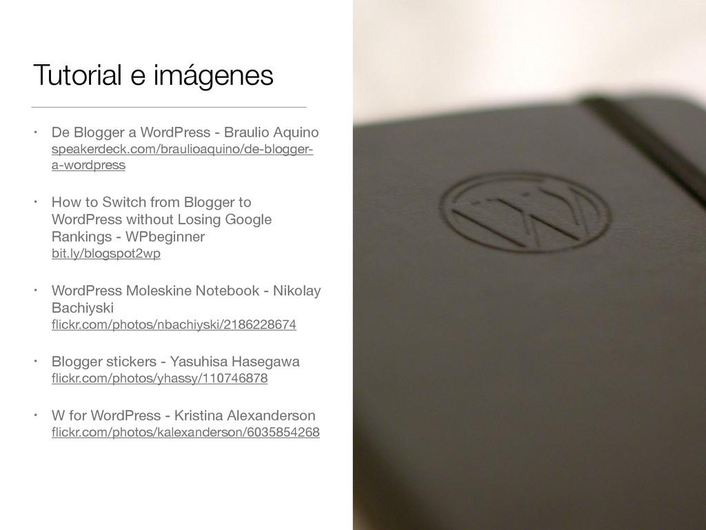 Tutorial e imágenes • De Blogger a WordPress - ...