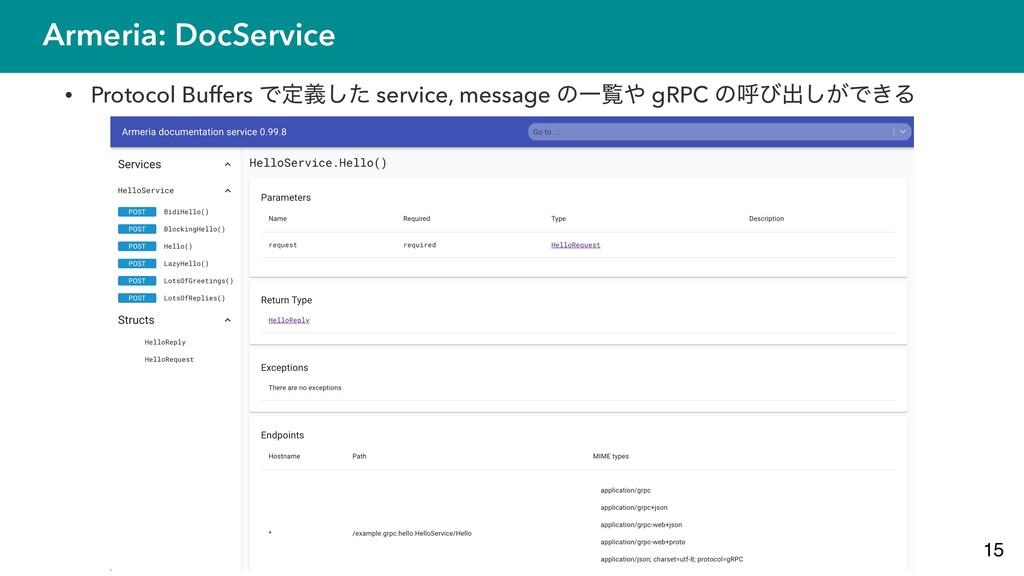 Armeria: DocService • Protocol Buffers Ͱఆٛͨ͠ se...
