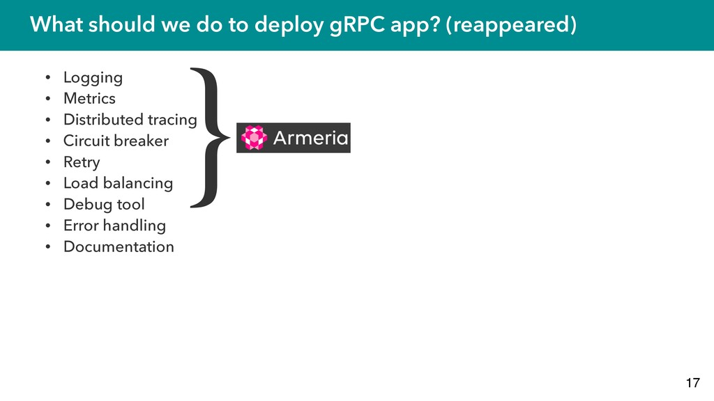 What should we do to deploy gRPC app? (reappear...