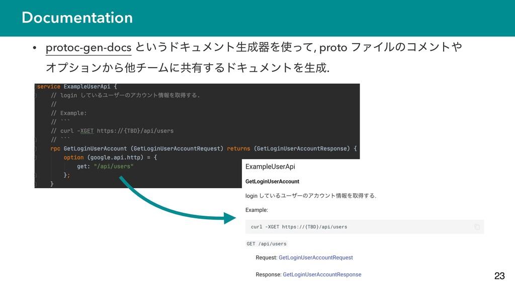 Documentation • protoc-gen-docs ͱ͍͏υΩϡϝϯτੜثΛͬ...