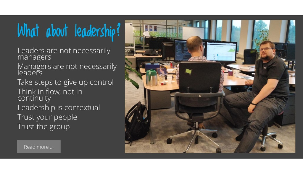Read more … What about leadership? Leaders are ...