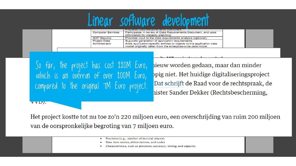 Click here Linear software development So far, ...