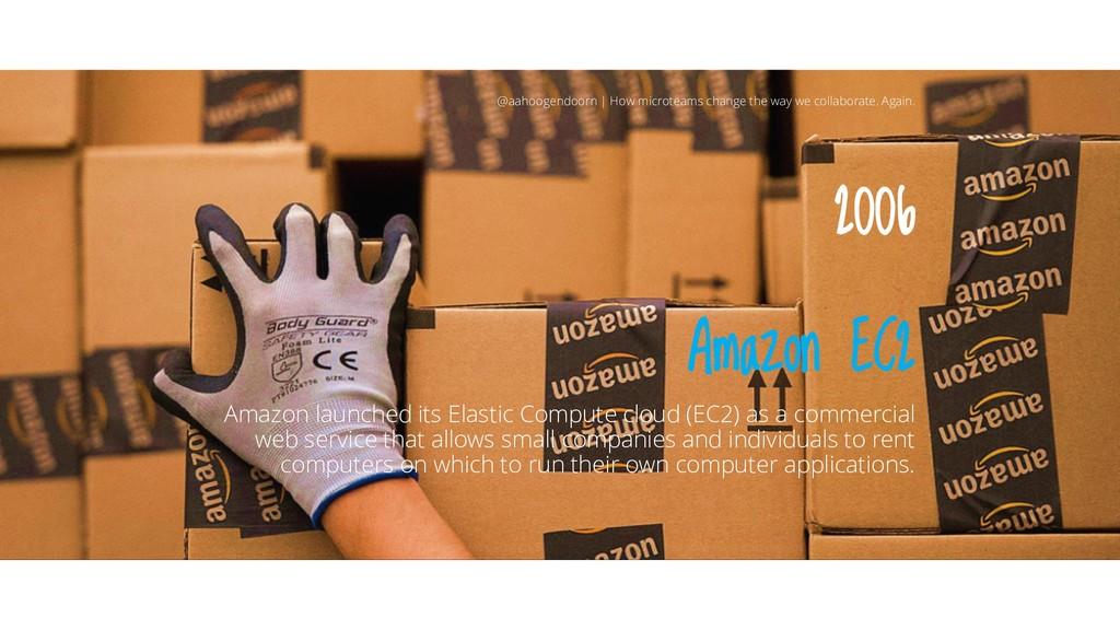 2006 Amazon EC2 Amazon launched its Elastic Com...