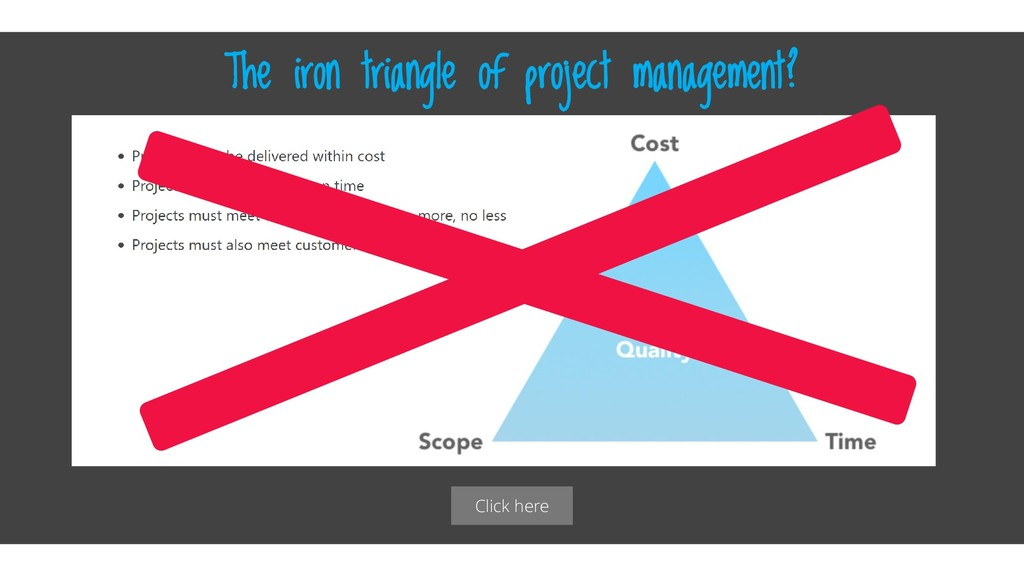 Click here The iron triangle of project managem...