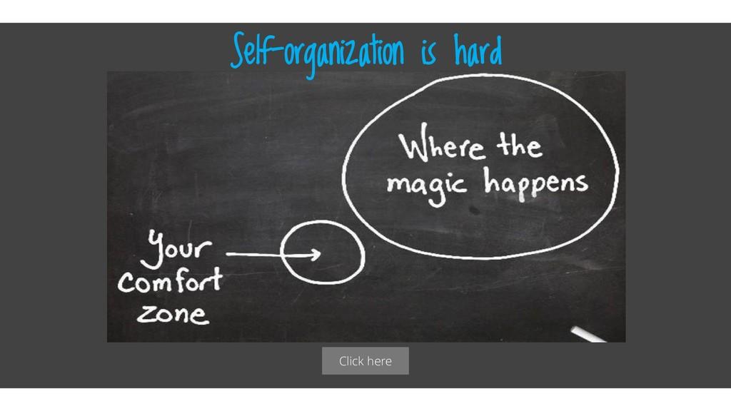 Click here Self-organization is hard
