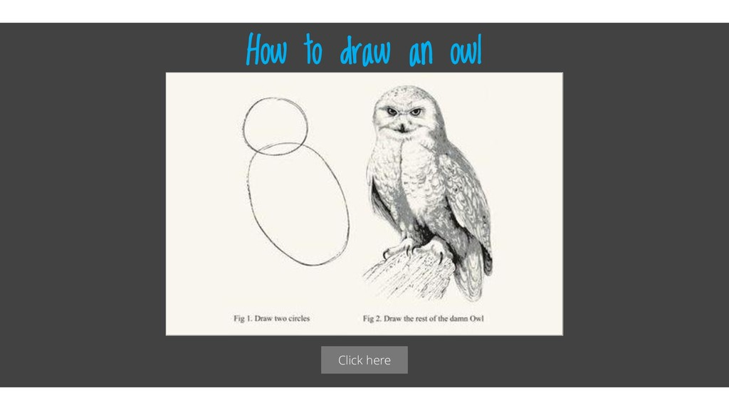 Click here How to draw an owl