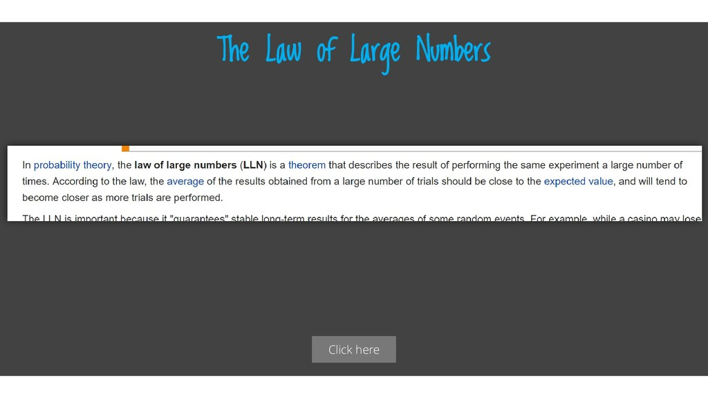 Click here The Law of Large Numbers