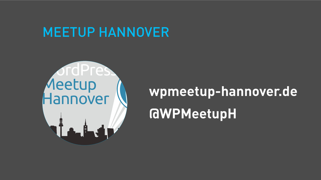MEETUP HANNOVER WordPress Meetup Hannover wpmee...