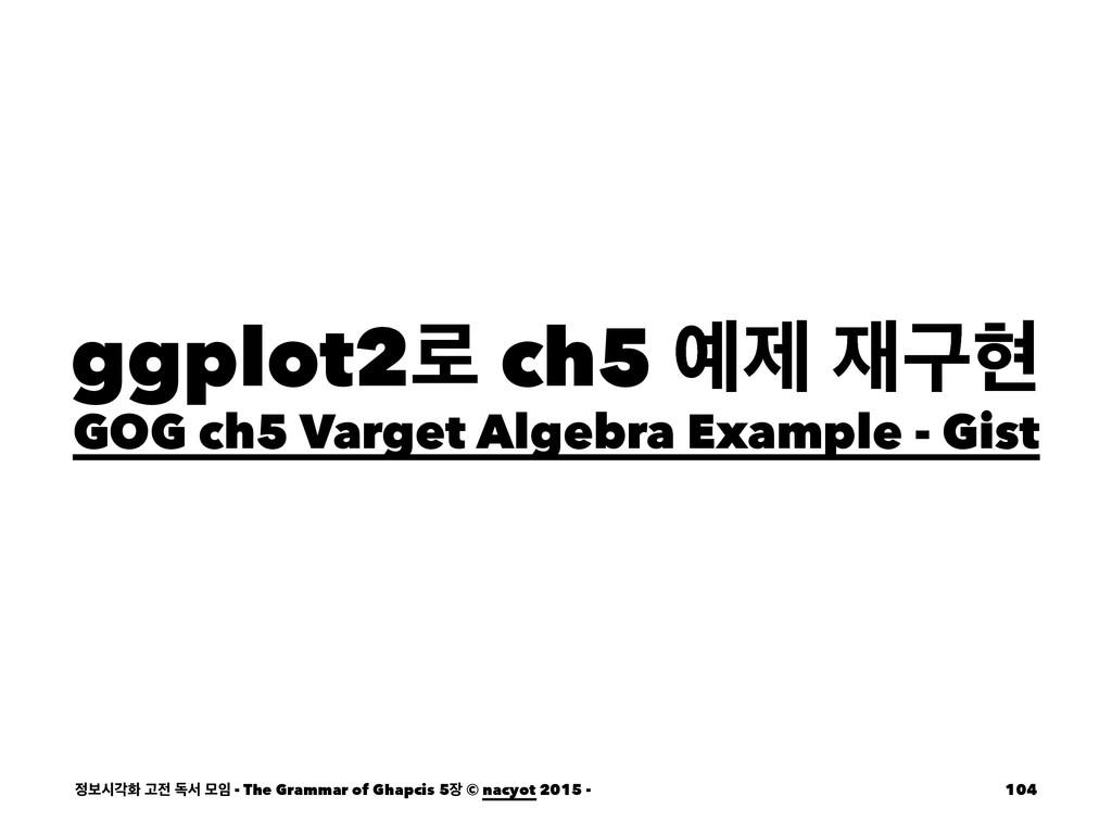 ggplot2۽ ch5 ઁ ҳഅ GOG ch5 Varget Algebra Exam...