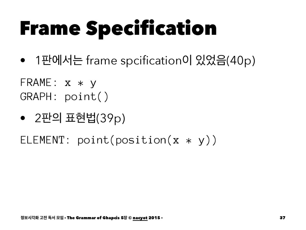 Frame Specification • 1౸ীࢲח frame spcification ...