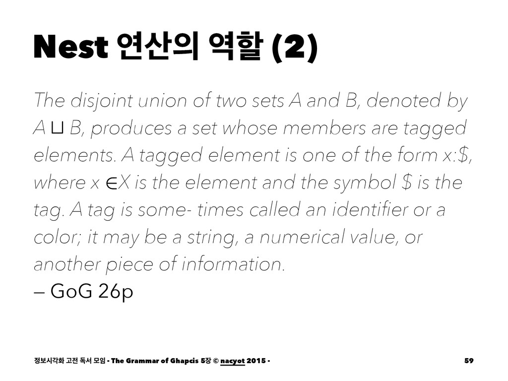Nest ো ೡ (2) The disjoint union of two sets ...