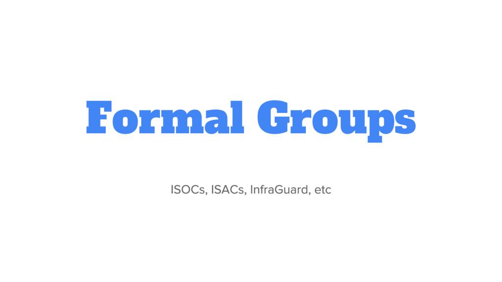 Formal Groups