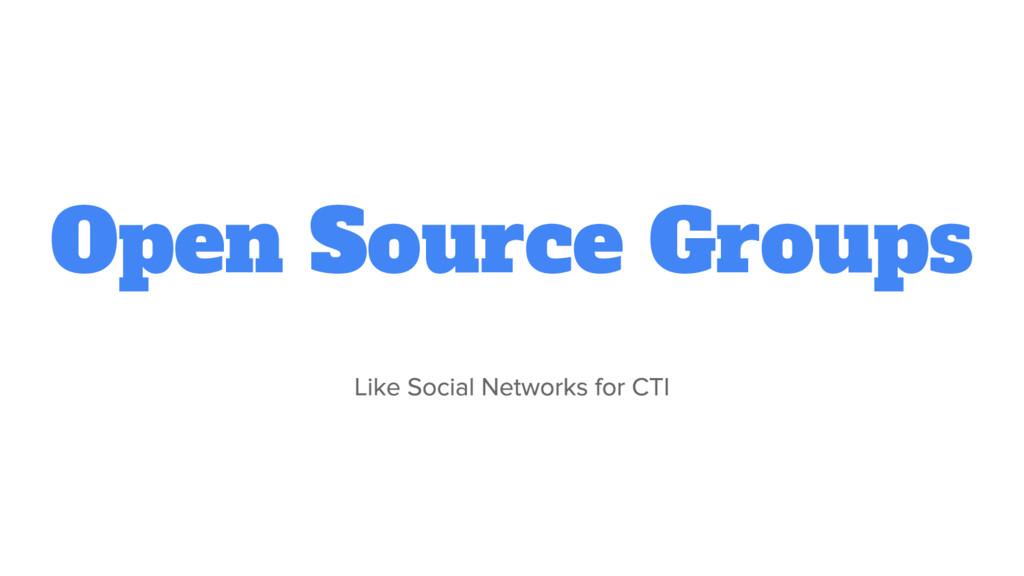 Open Source Groups