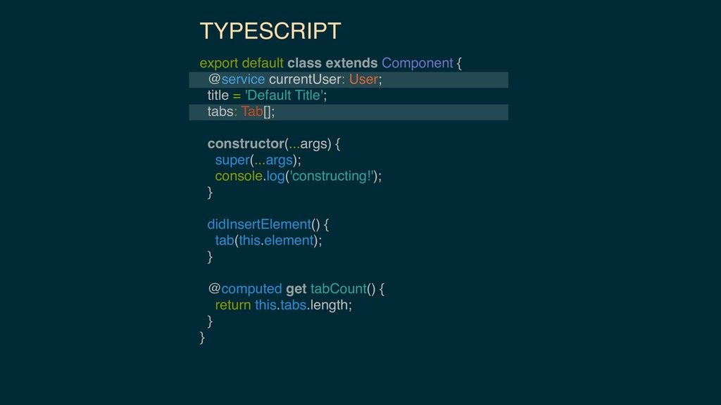 TYPESCRIPT export default class extends Compone...