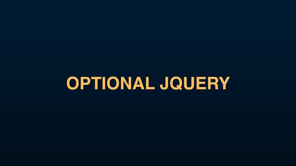 OPTIONAL JQUERY