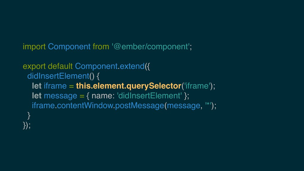 import Component from '@ember/component'; expor...