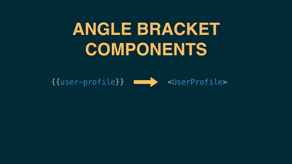 <UserProfile> {{user-profile}} ANGLE BRACKET CO...