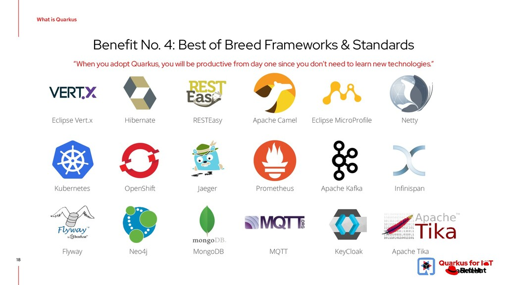 Benefit No. 4: Best of Breed Frameworks & Stand...