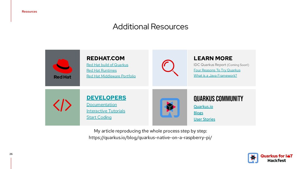 Additional Resources 26 REDHAT.COM Red Hat buil...