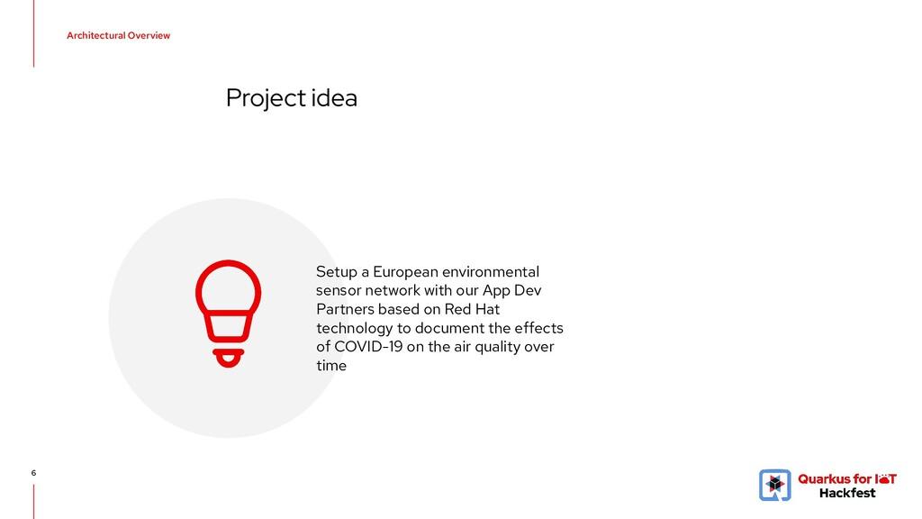 6 Project idea Setup a European environmental s...