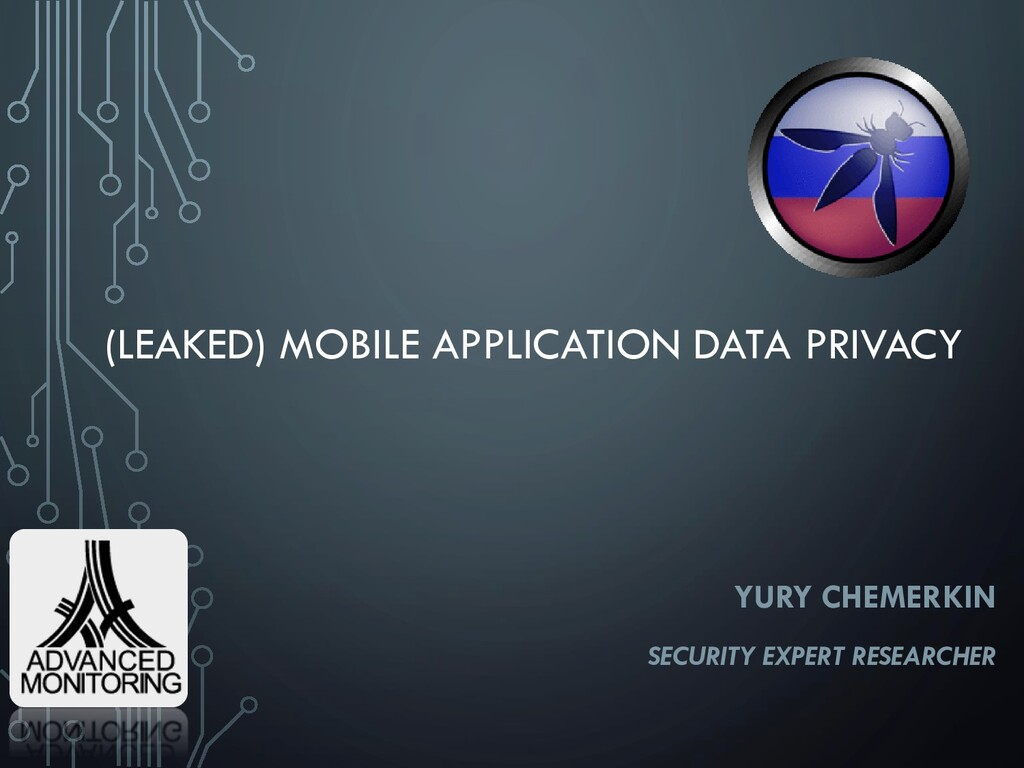 (LEAKED) MOBILE APPLICATION DATA PRIVACY YURY C...