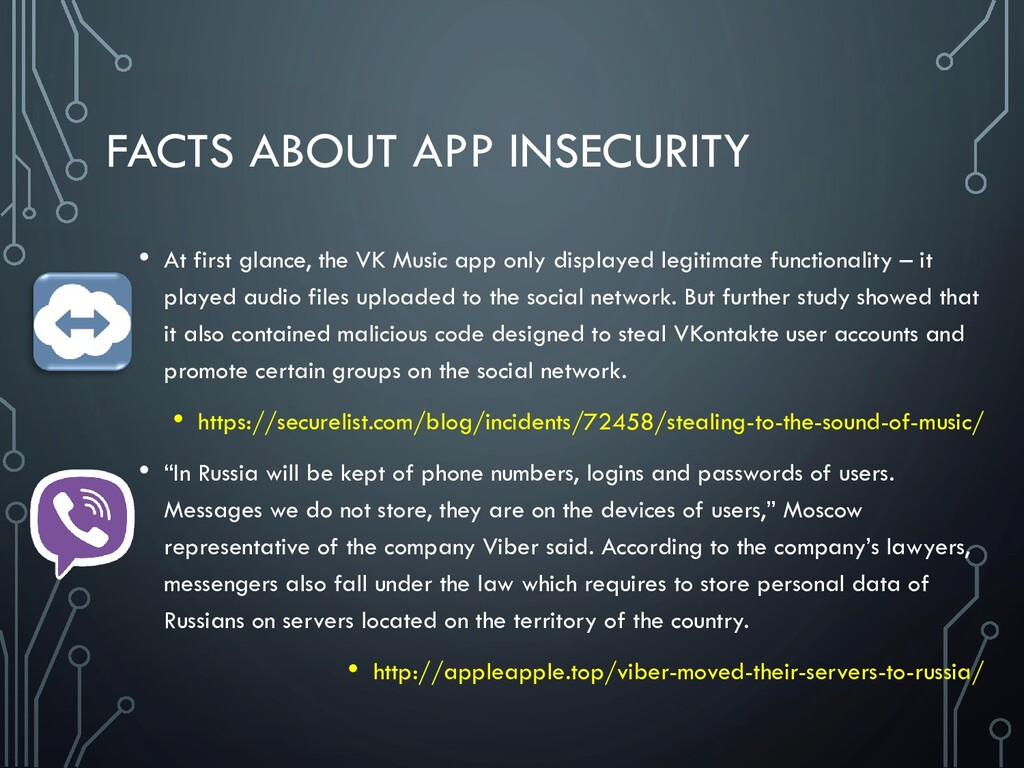 FACTS ABOUT APP INSECURITY • At first glance, t...