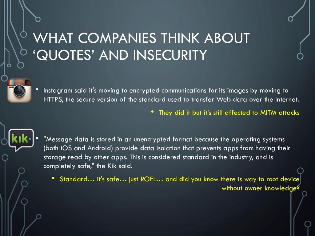 WHAT COMPANIES THINK ABOUT 'QUOTES' AND INSECUR...