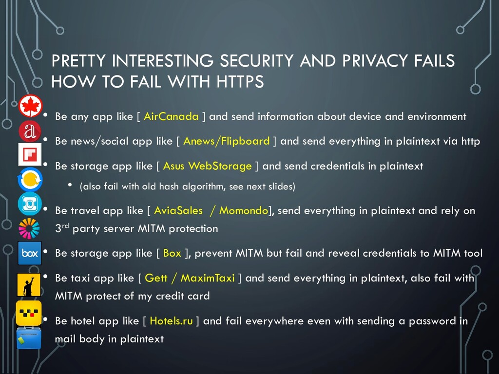 PRETTY INTERESTING SECURITY AND PRIVACY FAILS H...