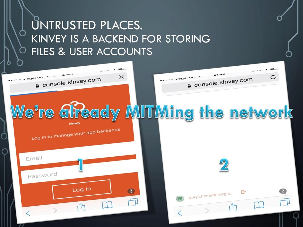 UNTRUSTED PLACES. KINVEY IS A BACKEND FOR STORI...