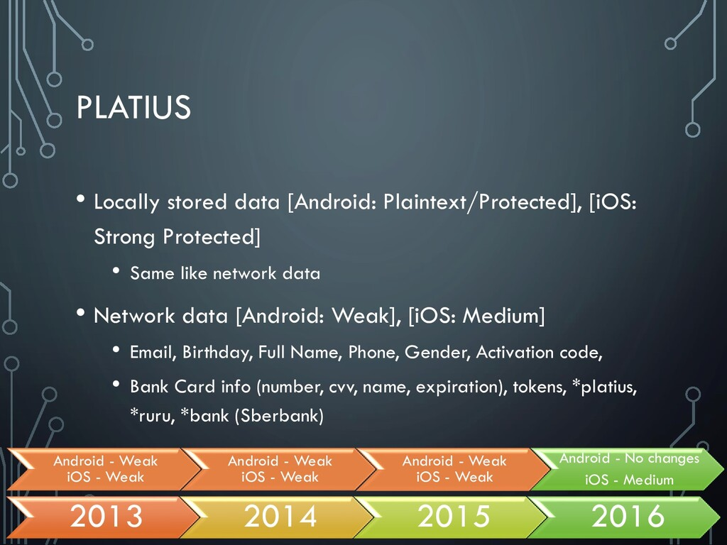 PLATIUS • Locally stored data [Android: Plainte...