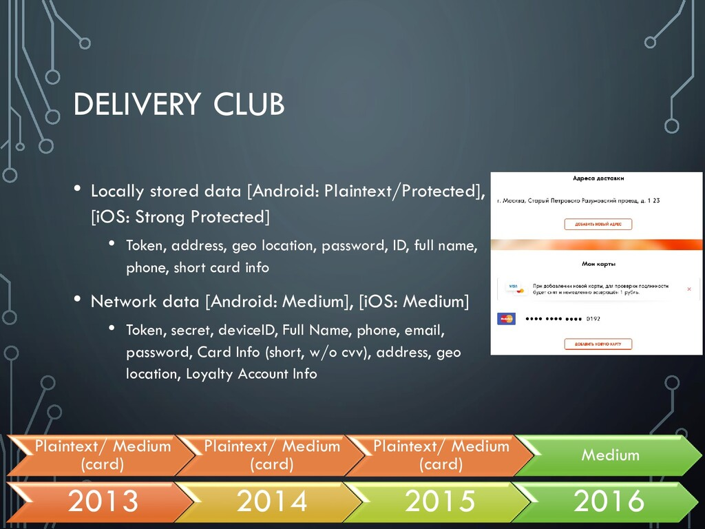 DELIVERY CLUB • Locally stored data [Android: P...