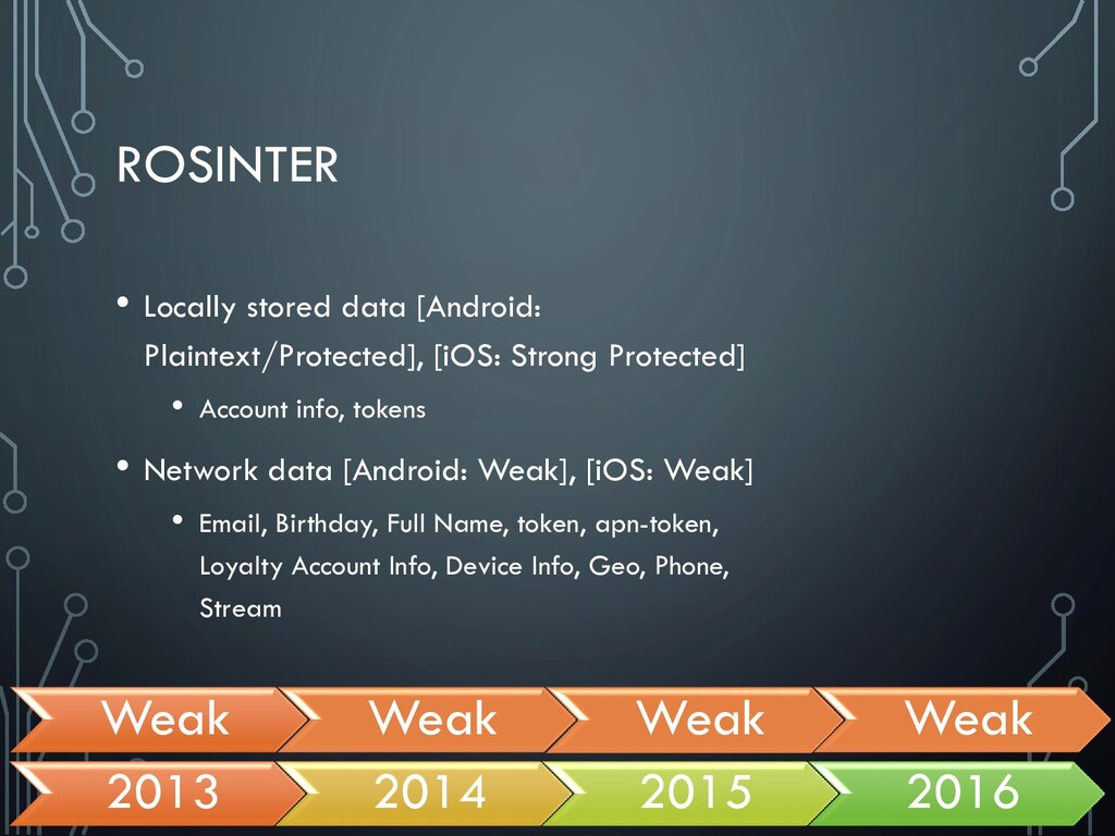ROSINTER • Locally stored data [Android: Plaint...