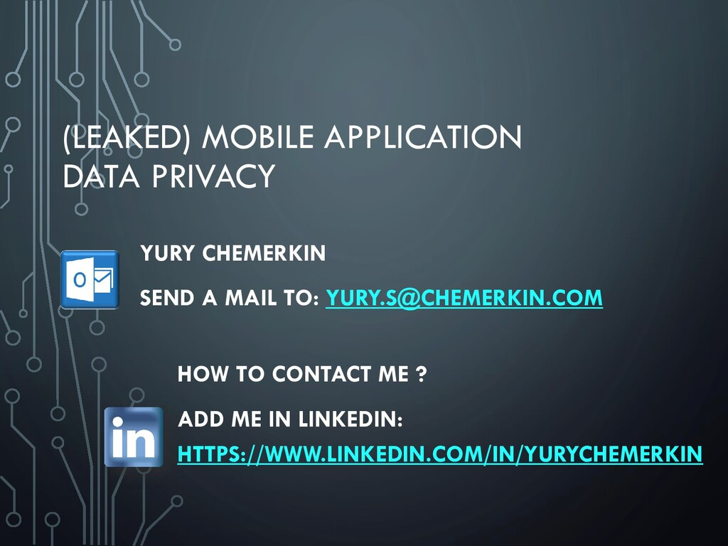 (LEAKED) MOBILE APPLICATION DATA PRIVACY HOW TO...