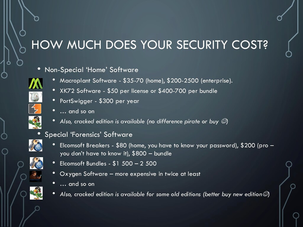 HOW MUCH DOES YOUR SECURITY COST? • Non-Special...