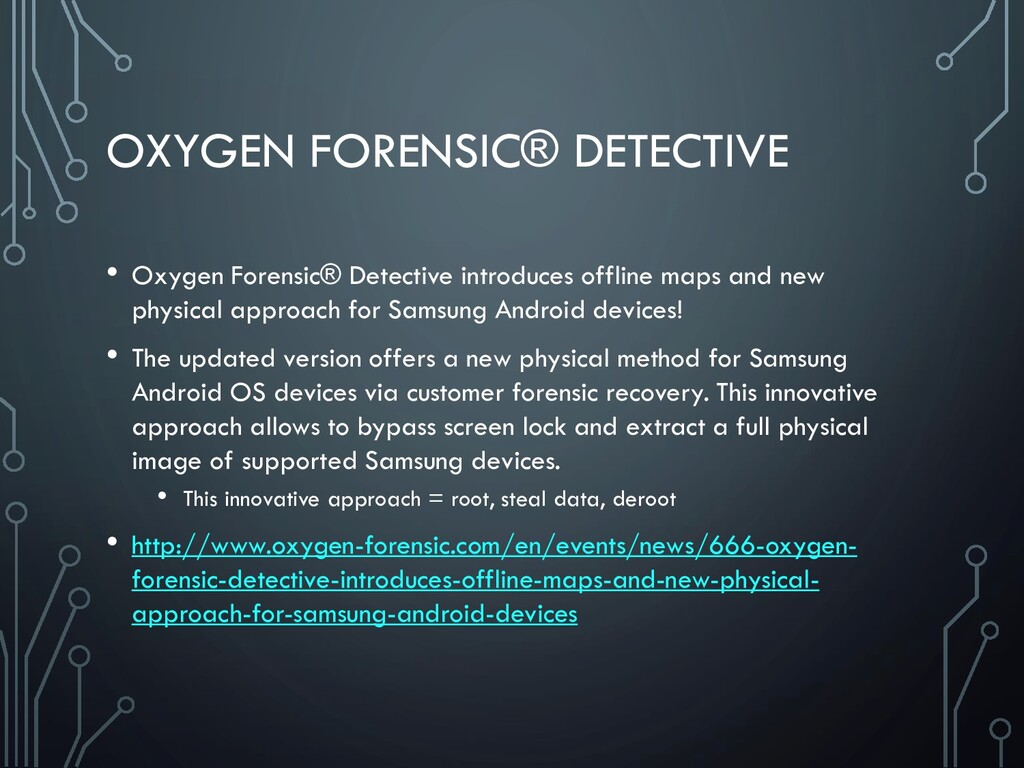 OXYGEN FORENSIC® DETECTIVE • Oxygen Forensic® D...