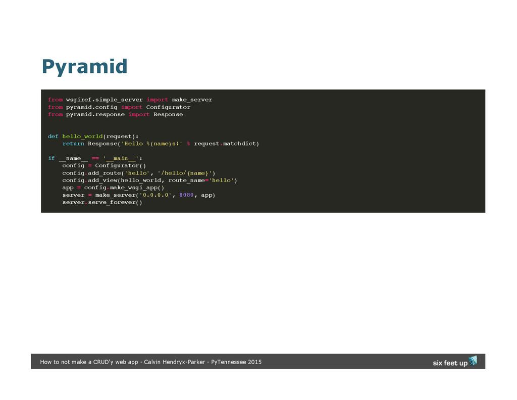 Pyramid from wsgiref.simple_server import make_...