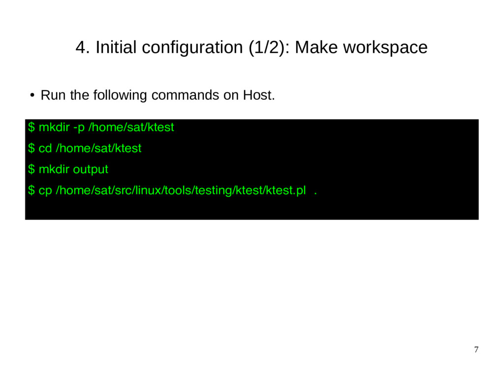 7 4. Initial configuration (1/2): Make workspac...