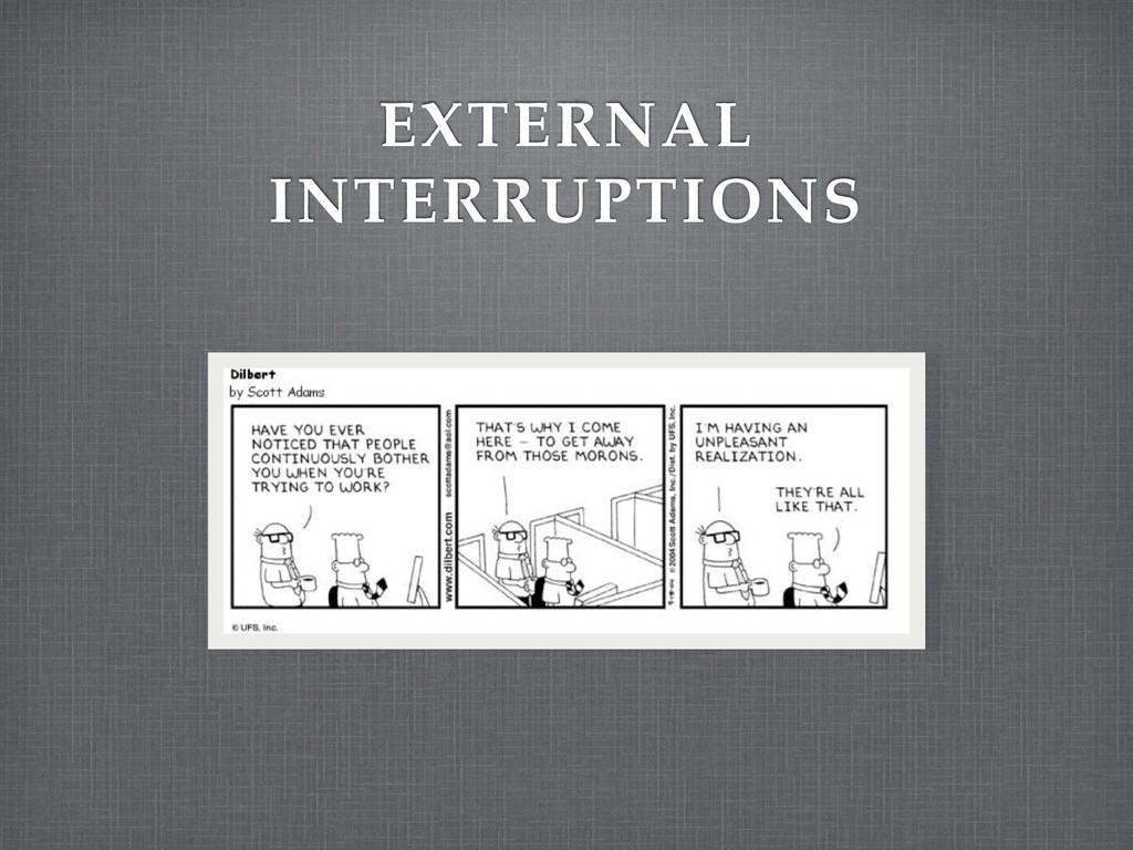 EXTERNAL INTERRUPTIONS