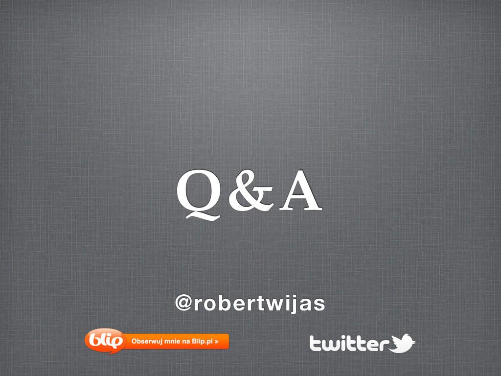 @robertwijas Q&A