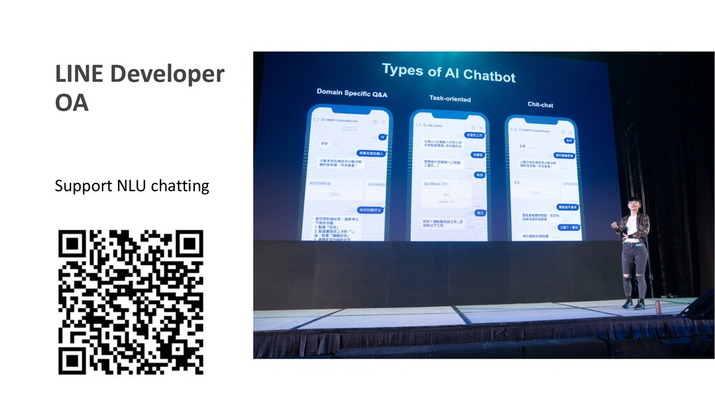 LINE Developer OA Support NLU chatting