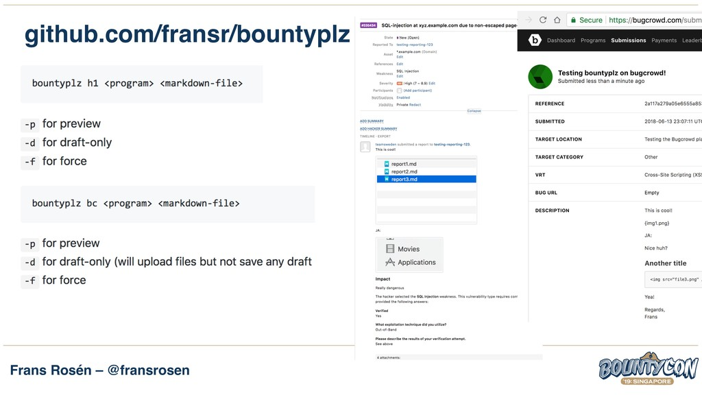 Frans Rosén – @fransrosen github.com/fransr/bou...