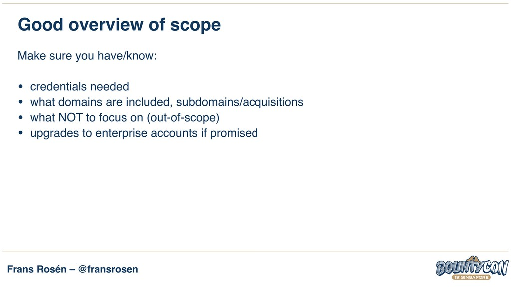 Frans Rosén – @fransrosen Good overview of scop...