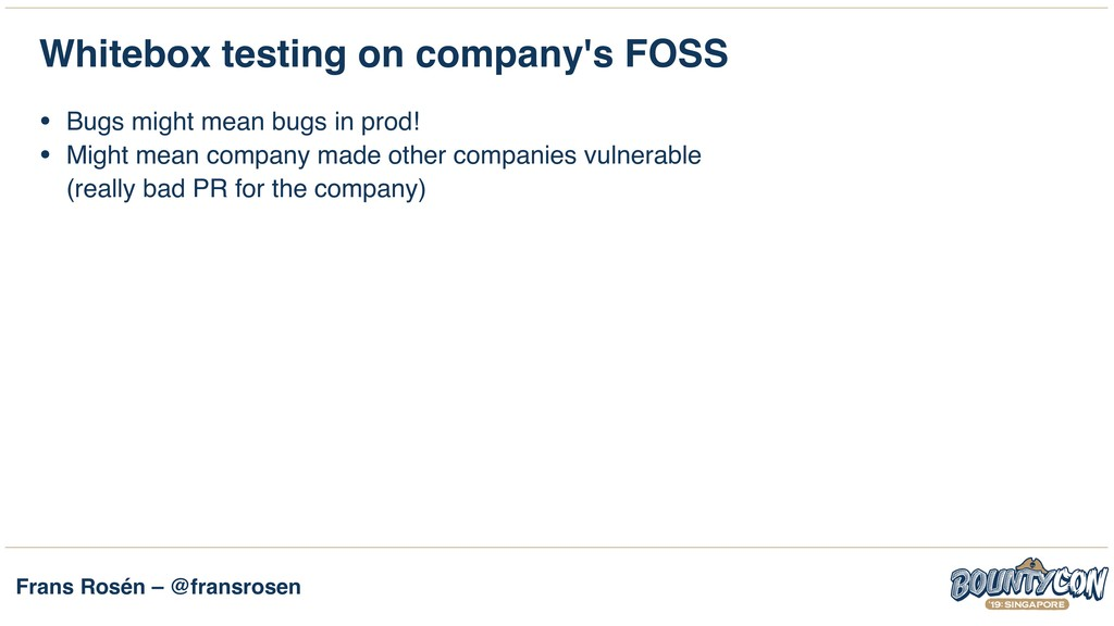 Frans Rosén – @fransrosen Whitebox testing on c...
