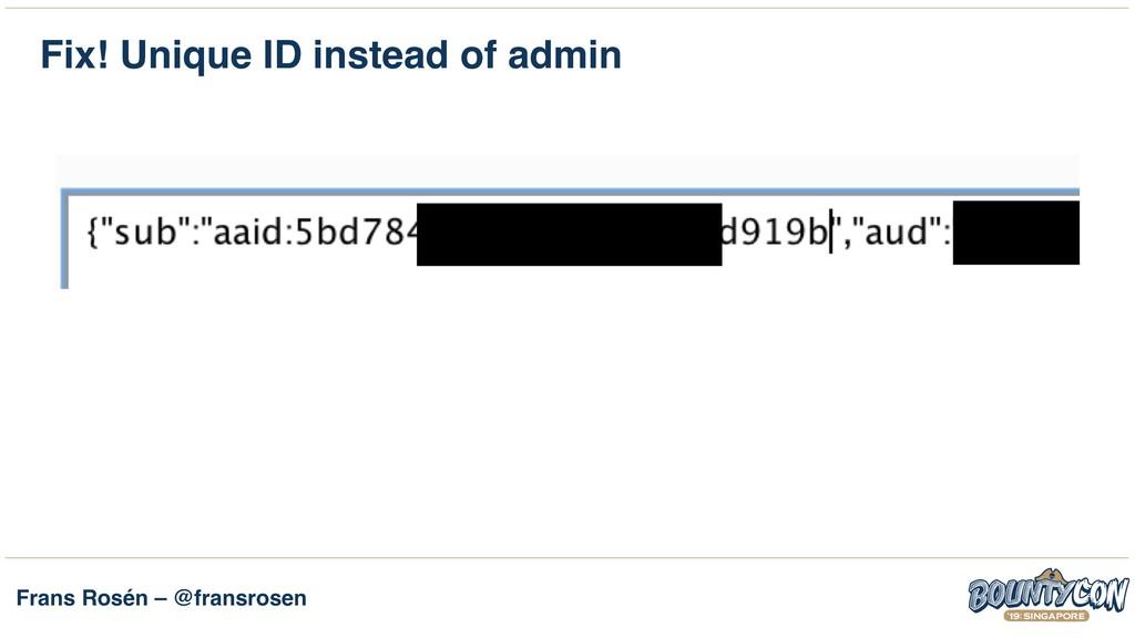 Frans Rosén – @fransrosen Fix! Unique ID instea...