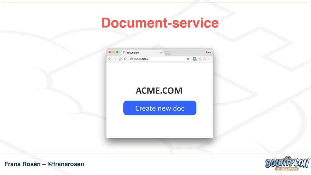 Frans Rosén – @fransrosen Document-service ACME...