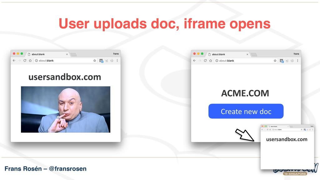 Frans Rosén – @fransrosen User uploads doc, ifr...