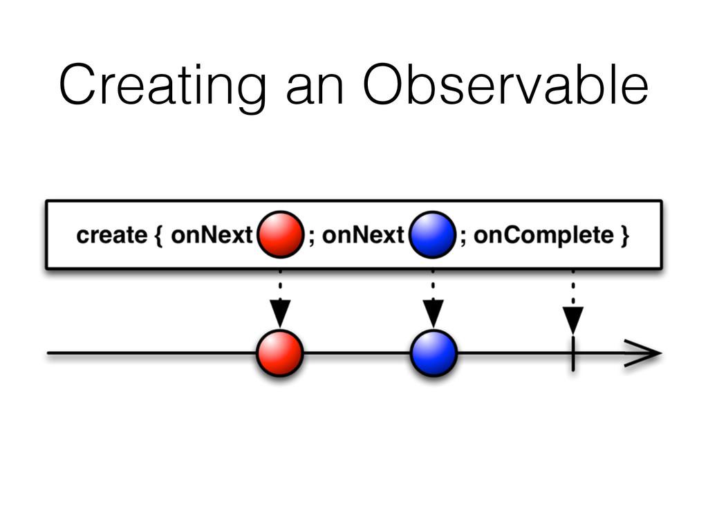 Creating an Observable