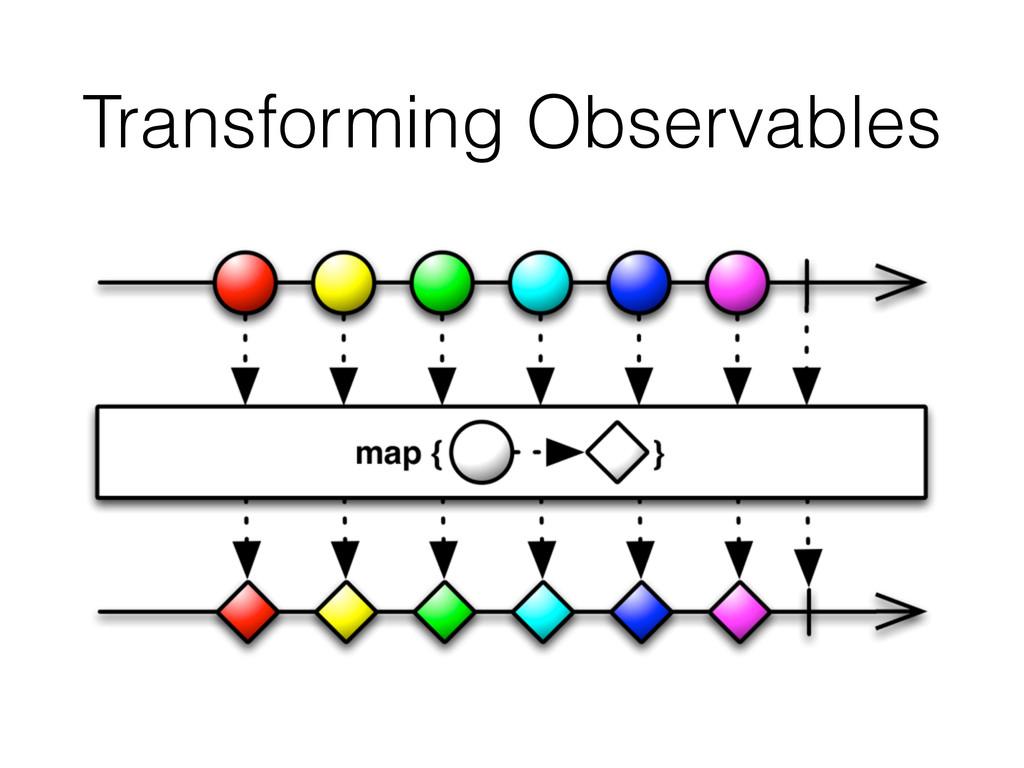 Transforming Observables